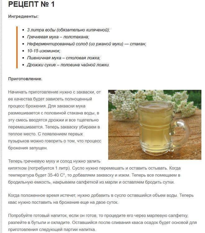 Рецепт домашнего кваса без дрожжей. Как сделать в домашних условиях ржаной квас с хреном