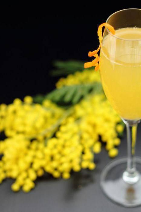"""Коктейль """"мимоза"""": классический рецепт приготовления коктейля, другие составы напитка, безалкогольная мимоза"""