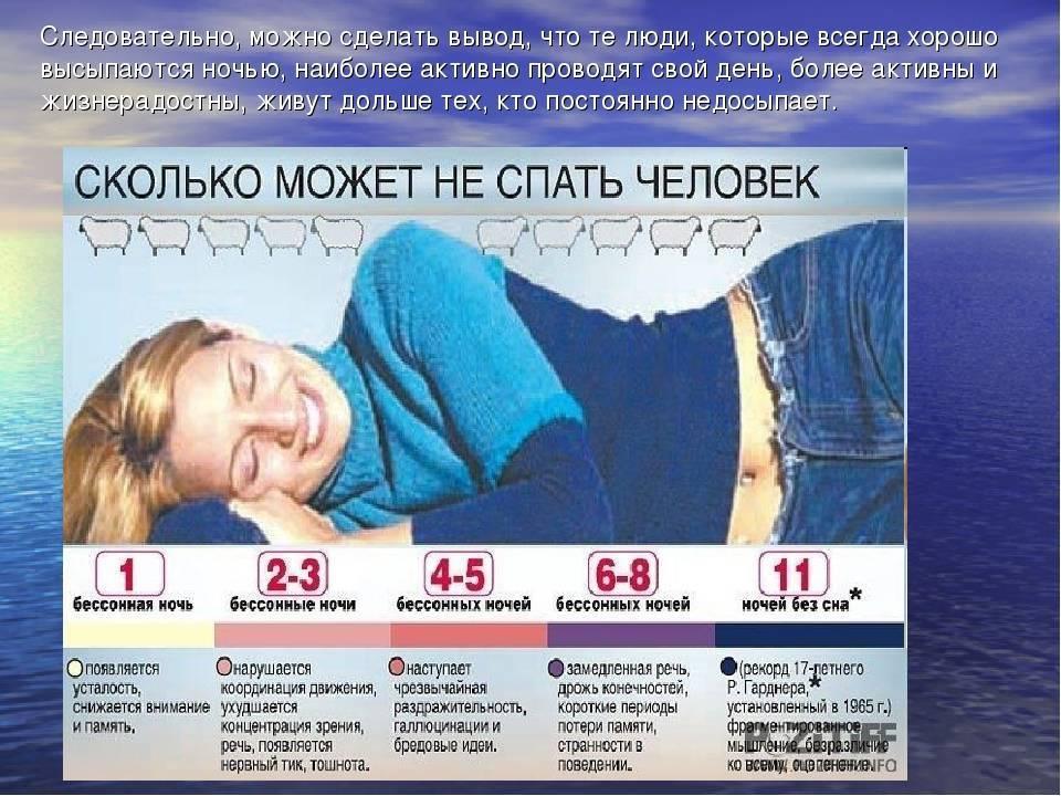 Мировой рекорд без сна: сколько человек может бодрствовать и каковы последствия? сколько можно не спать и как это повлияет на здоровье как долго человек может без сна.