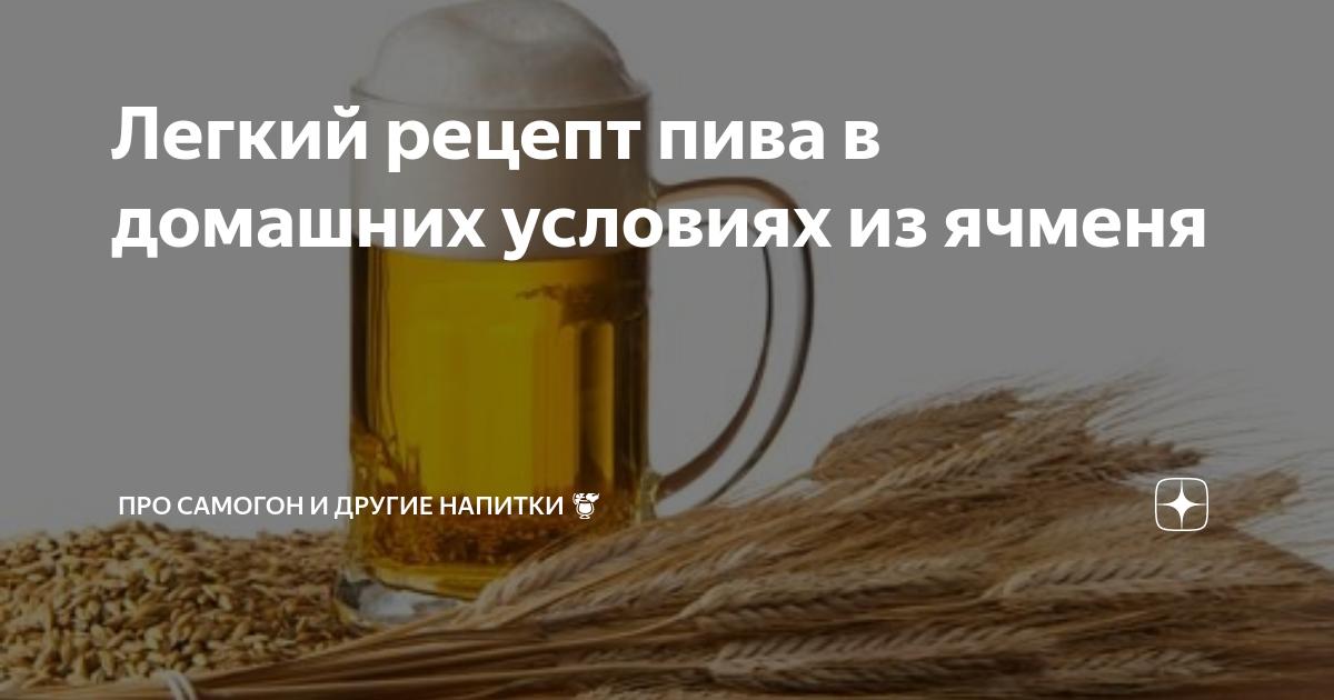 Рецепт ячменного пива для приготовления в домашних условиях
