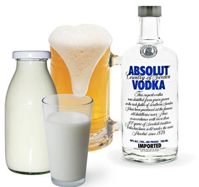 Водка с молоком: можно ли запивать алкоголь молоком, что будет после этого, совместимость напитков, как называется коктейль