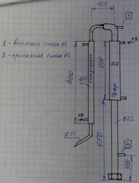 Ректификационная колонна: расчет всех компонентов и технология сборки своими руками в домашних условиях
