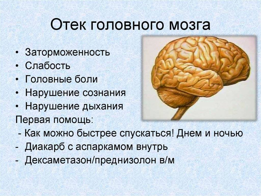 Отек мозга при алкоголизме
