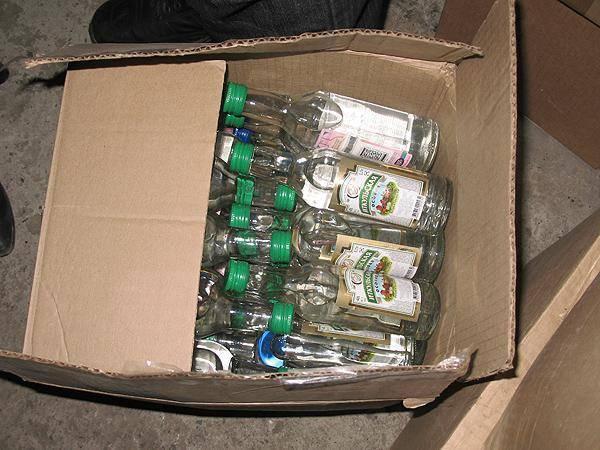 Сколько бутылок в ящике водки   геоводка