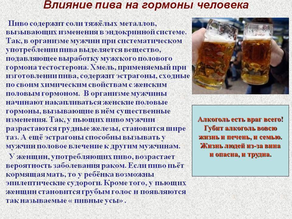 Вред пива для здоровья - воздействие на органы, эндокринную систему, психику и формирование зависимости