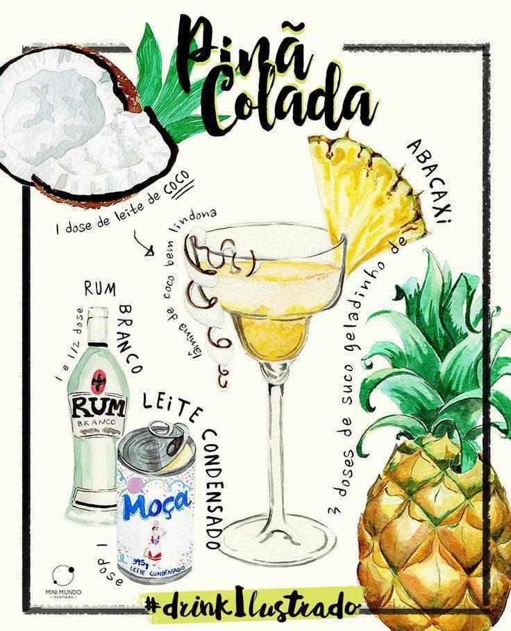 Рецепты приготовления коктейля пина колада