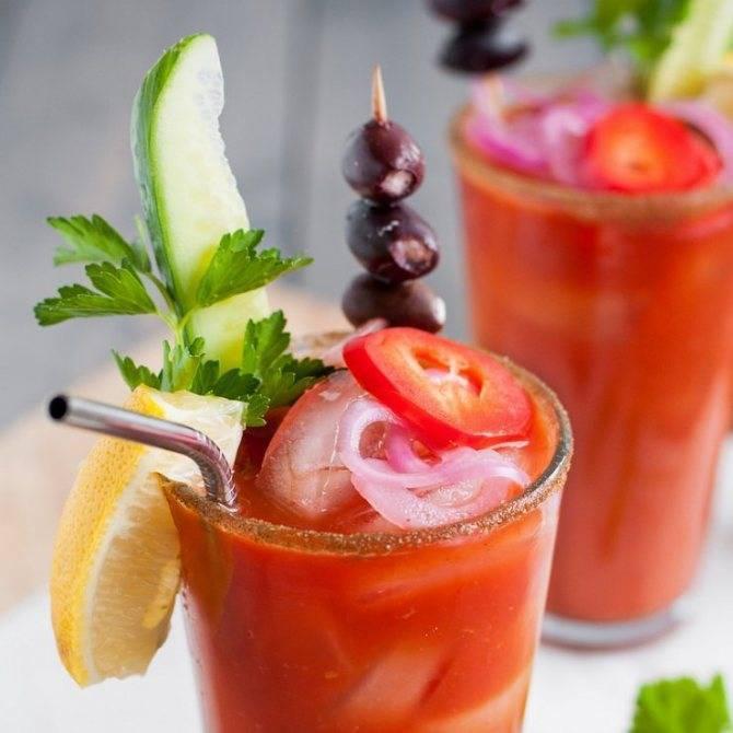 Кровавая мэри (bloody mary) — рецепт коктейля из водки и томатного сока
