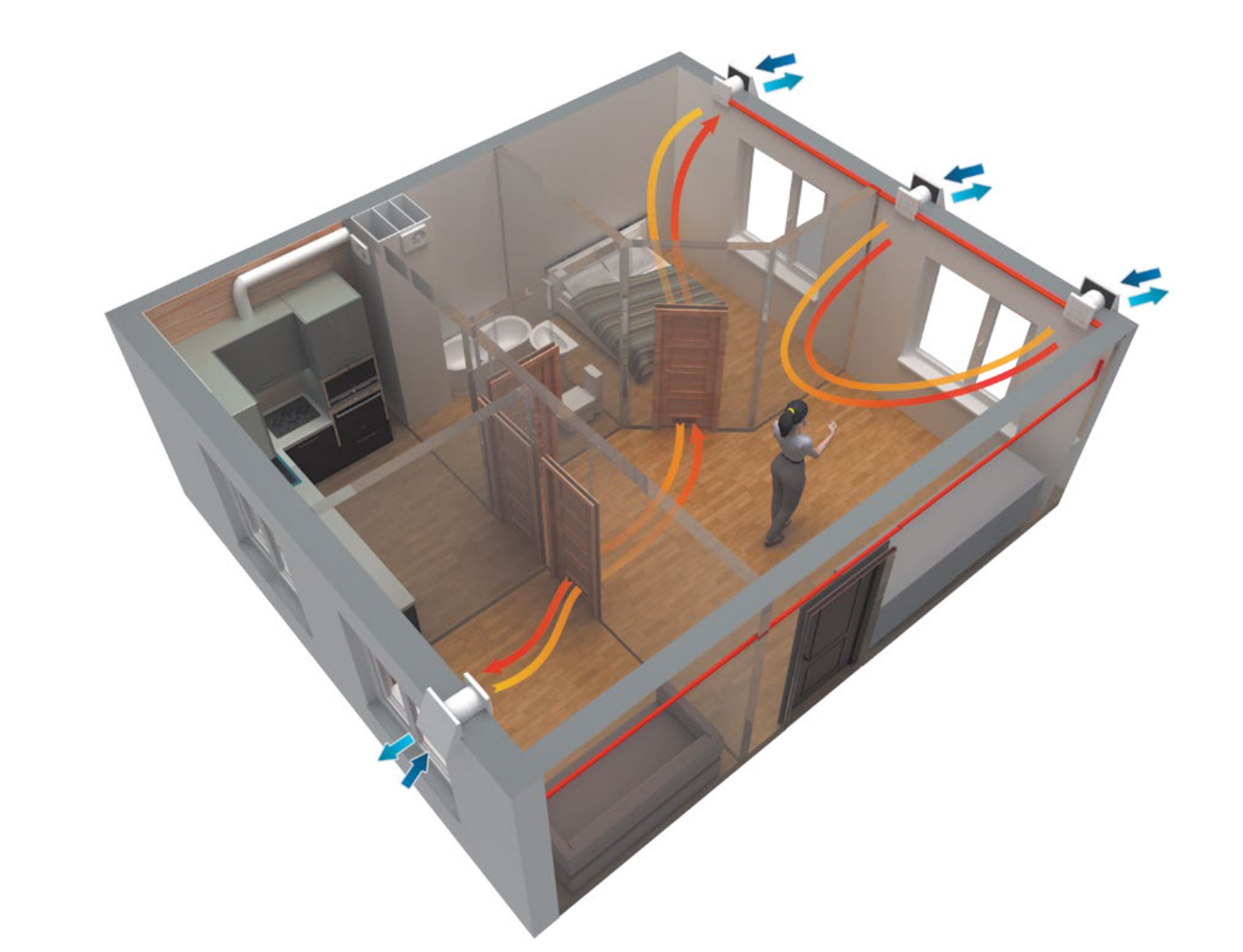 Приточная вентиляция совмещенная с канальным кондиционером (часть 1 — электрическая)