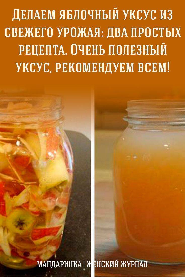 Все известные мне рецепты приготовления яблочного уксуса