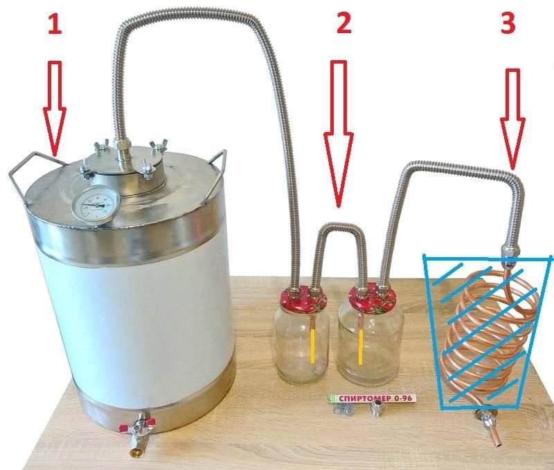 Как сделать самогонный аппарат с сухопарником и барботером: изготовление своими руками