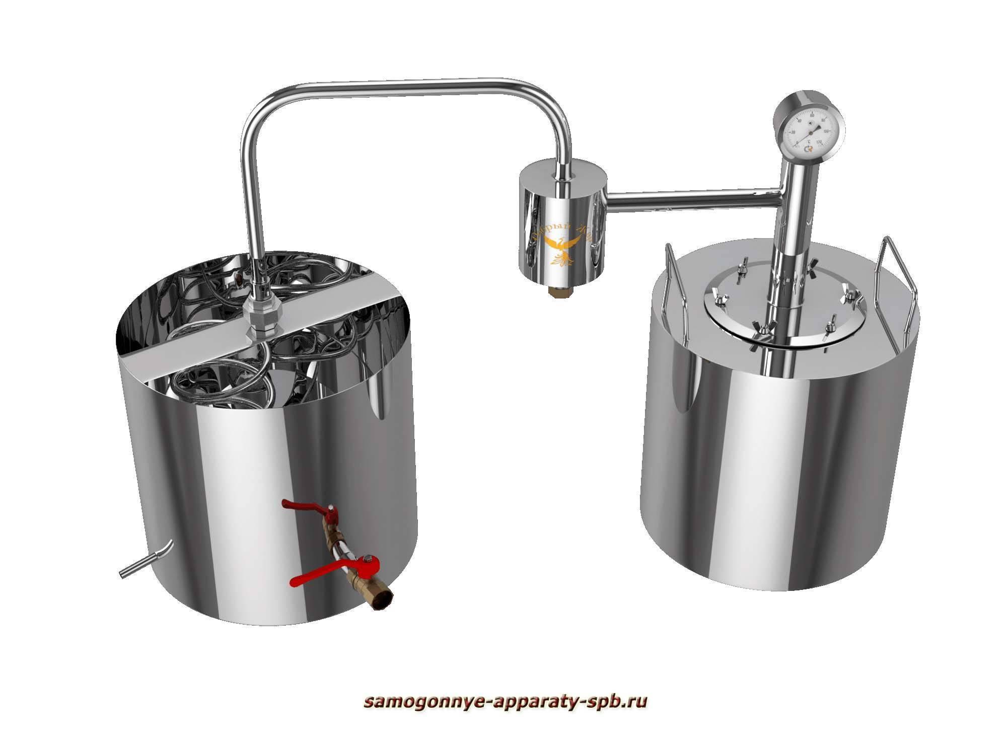 Виды и характеристики самогонных аппаратов «Добрый жар»