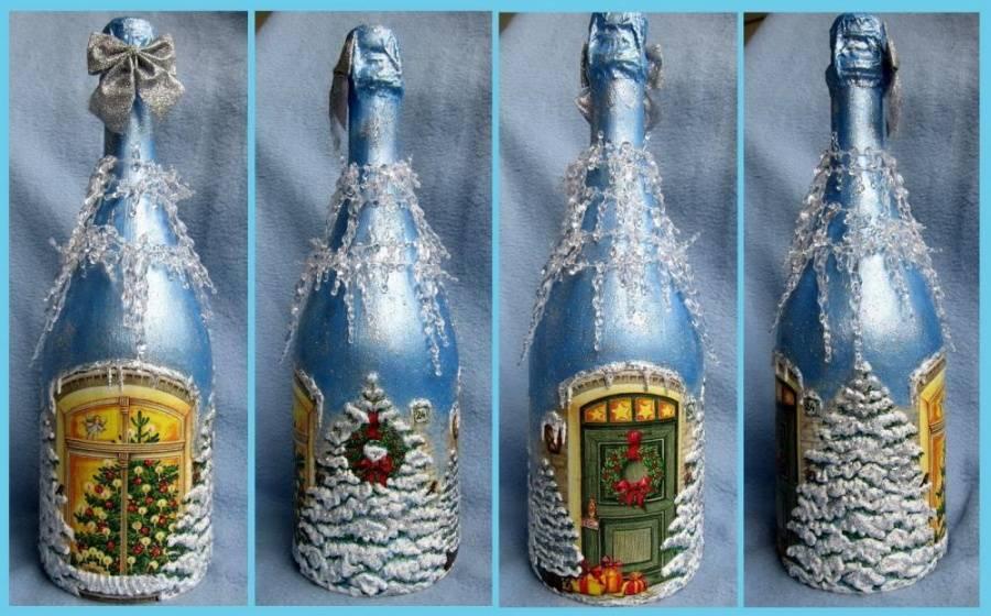 Украсить шампанское своими руками — 105 фото идей оригинального декора и мастер-классы украшения свадебных бутылок