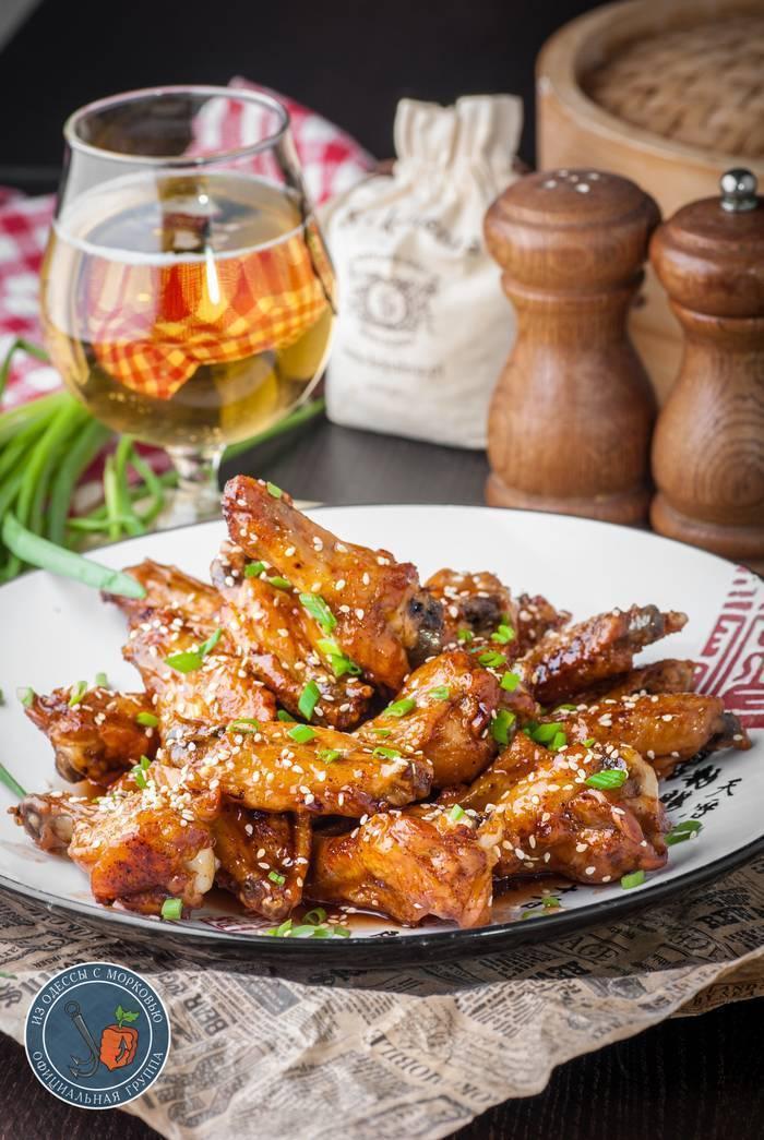Рецепты закусок: острые куриные крылышки к пиву | наливали