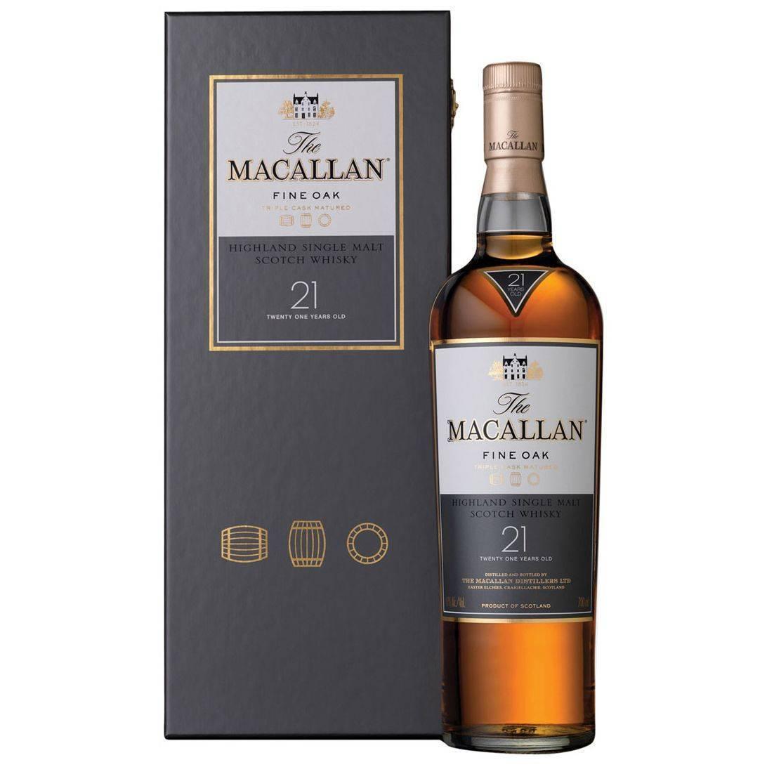 Виски «макаллан файн ок» (macallan fine oak) 12 лет односолодовый 1,75л крепость 40% в п/уп