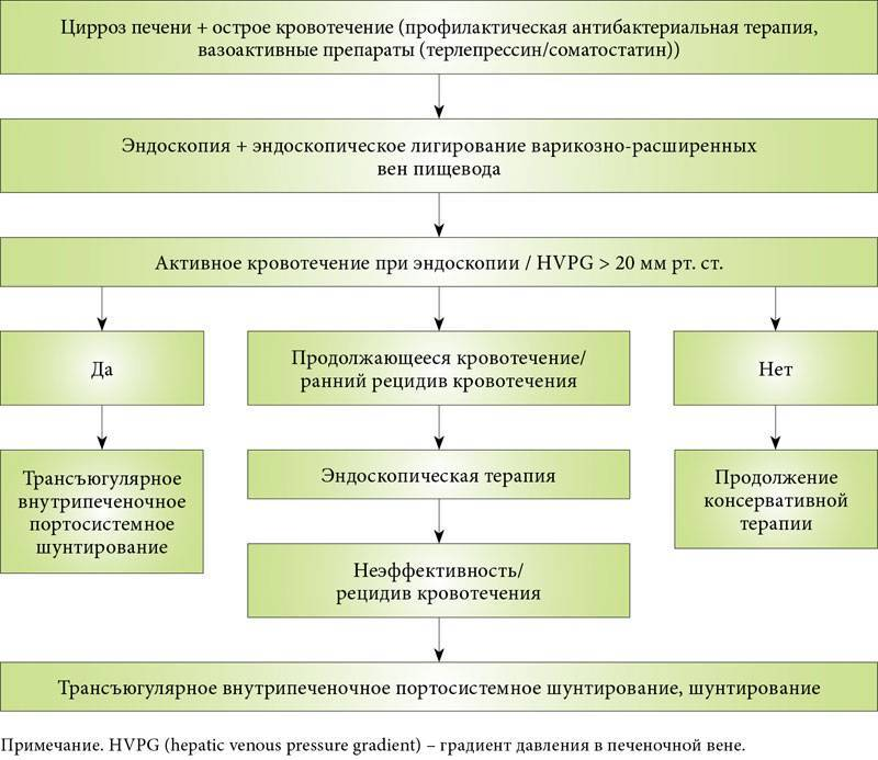 Лечение пищеводного кровотечения при циррозе