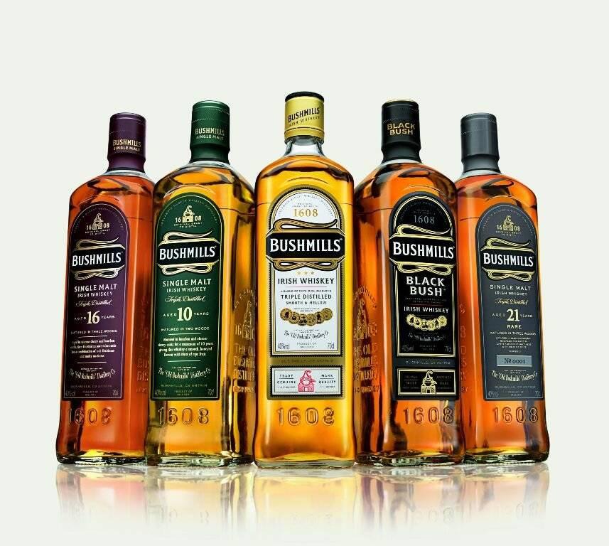 Какие бывают разновидности виски итальянского бренда Бушмилс, их особенности и цена