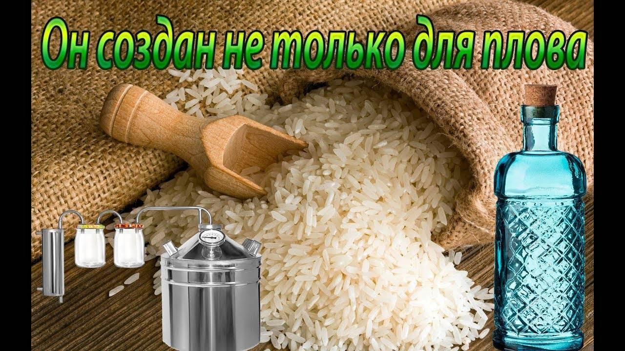 Как сделать самогон из риса правильный рецепт браги и особенности перегонки