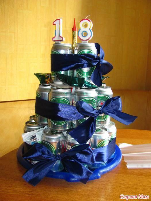 Торт из пива 12 банок. торт из пива в банках своими руками: как сделать самим. фото как делать торт из банок пива