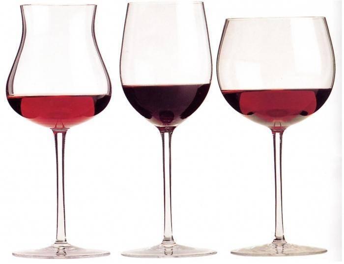 Бокалы для вина - виды, названия и отличия под красные, белые и игристые напитки
