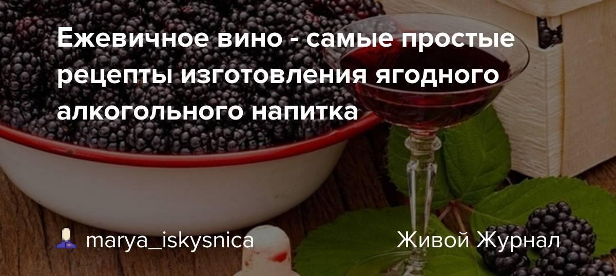 Вино из ежевики - 10 пошаговых рецептов