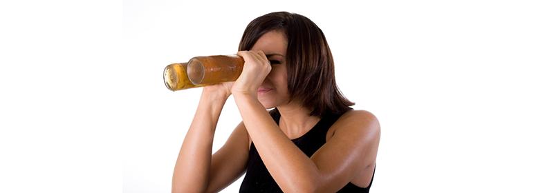 При алкоголе зрачки расширяются и влияние спиртного на зрение