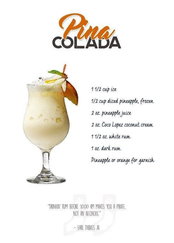 Коктейль пина колада — 9 простых рецептов
