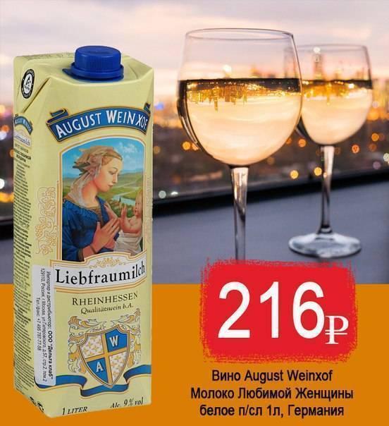 Обзор вина молоко любимой женщины