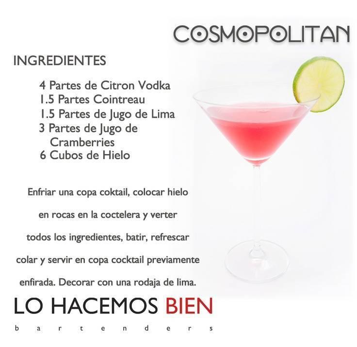 Рецепт классического коктейля космополитен, разновидности напитка, состав ⛳️ алко профи