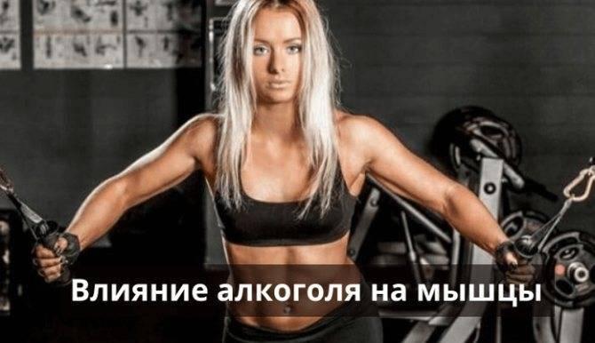 Тренировки и алкоголь - понятия не совместимые