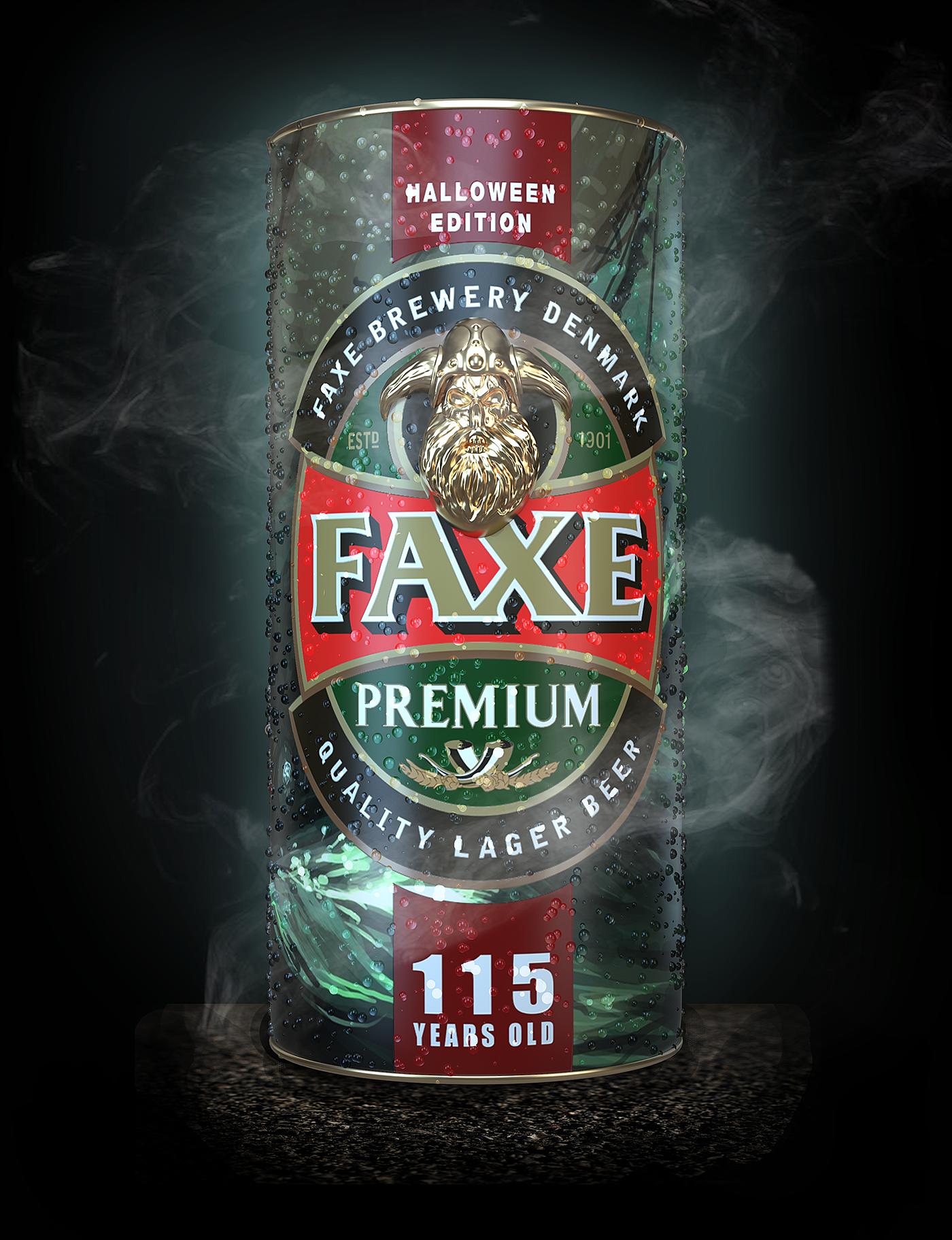 Пиво «faxe» premium, in can, 1 л — «факс» премиум, в жестяной банке, 1 литр