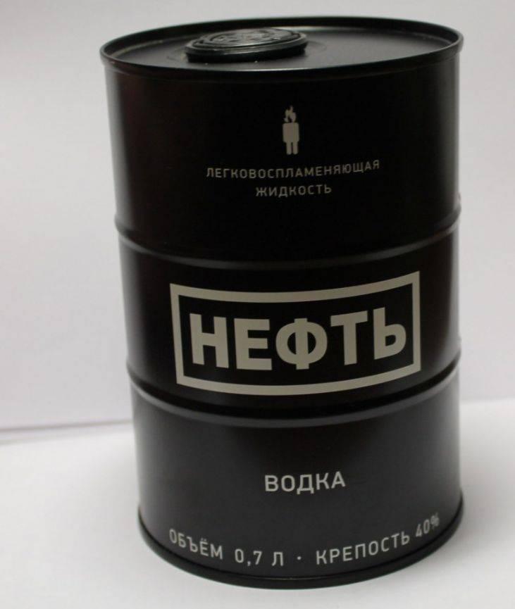 """Водка """"нефть"""": цена и особенности черного, белого и красного бочонка, как отличить подделку"""