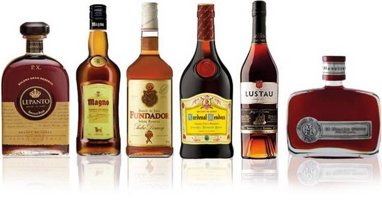 Разновидности хересного бренди