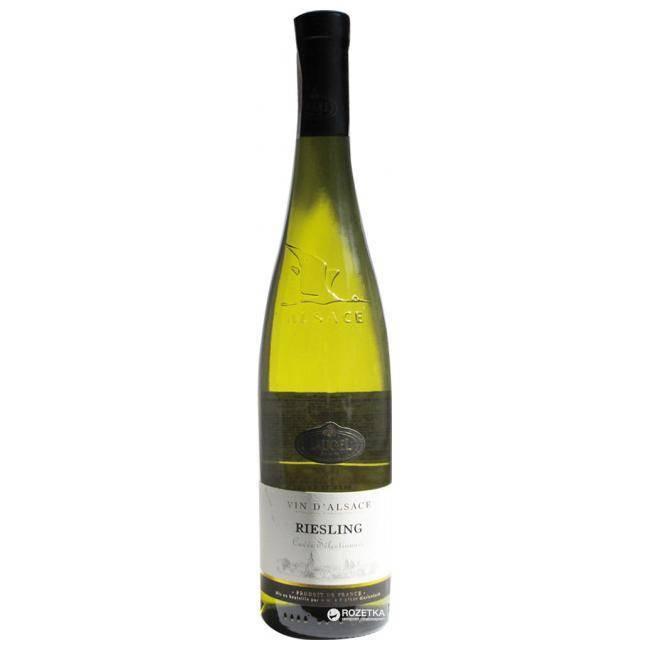 Вино рислинг белое сухое