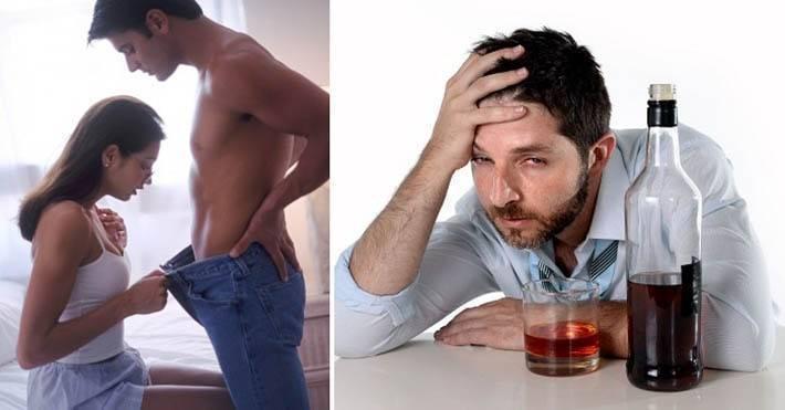 Алкоголь и потенция у мужчин — после 40, 50 лет, как бороться со снижением?