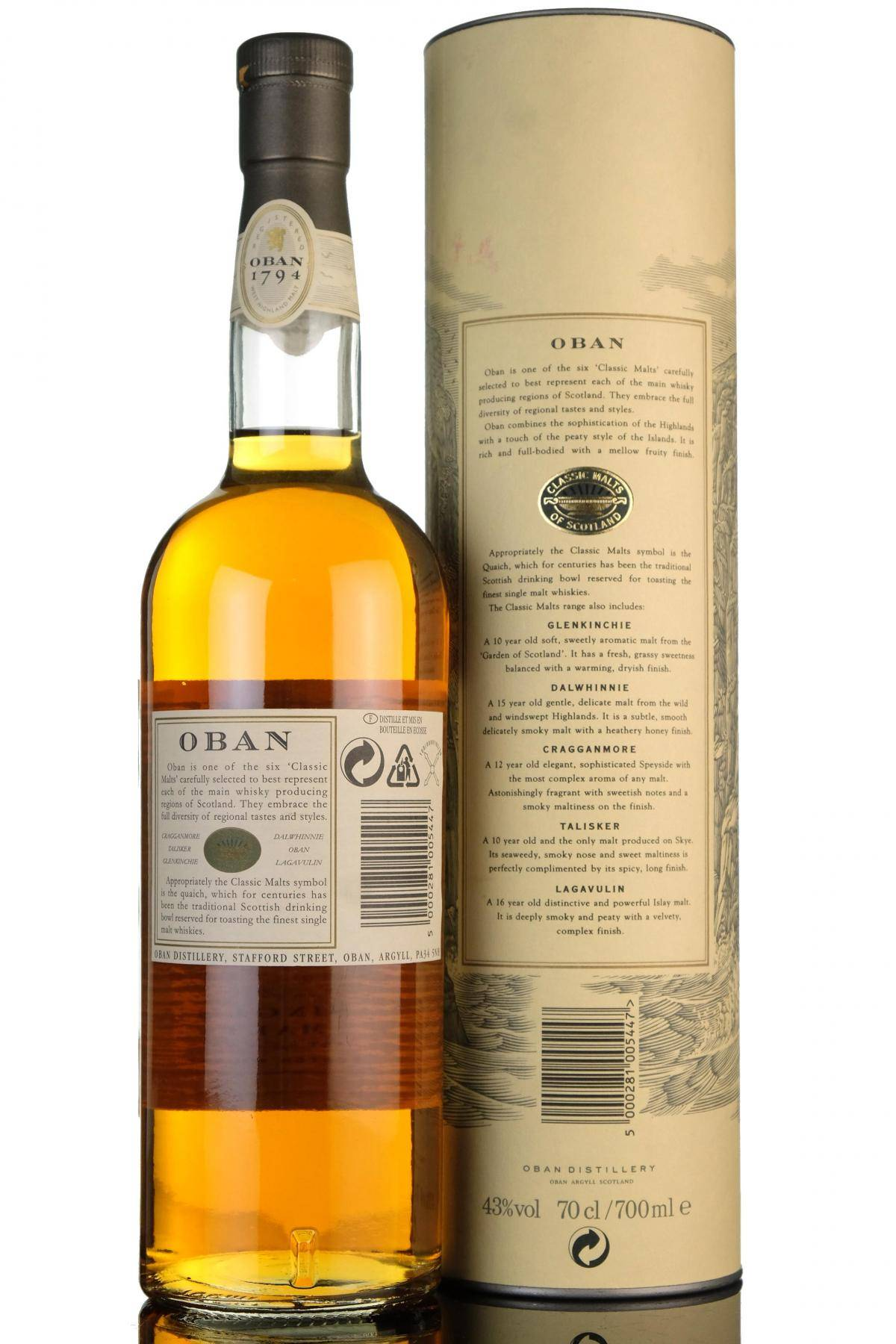 Виски oban (обан): описание, виды, история марки