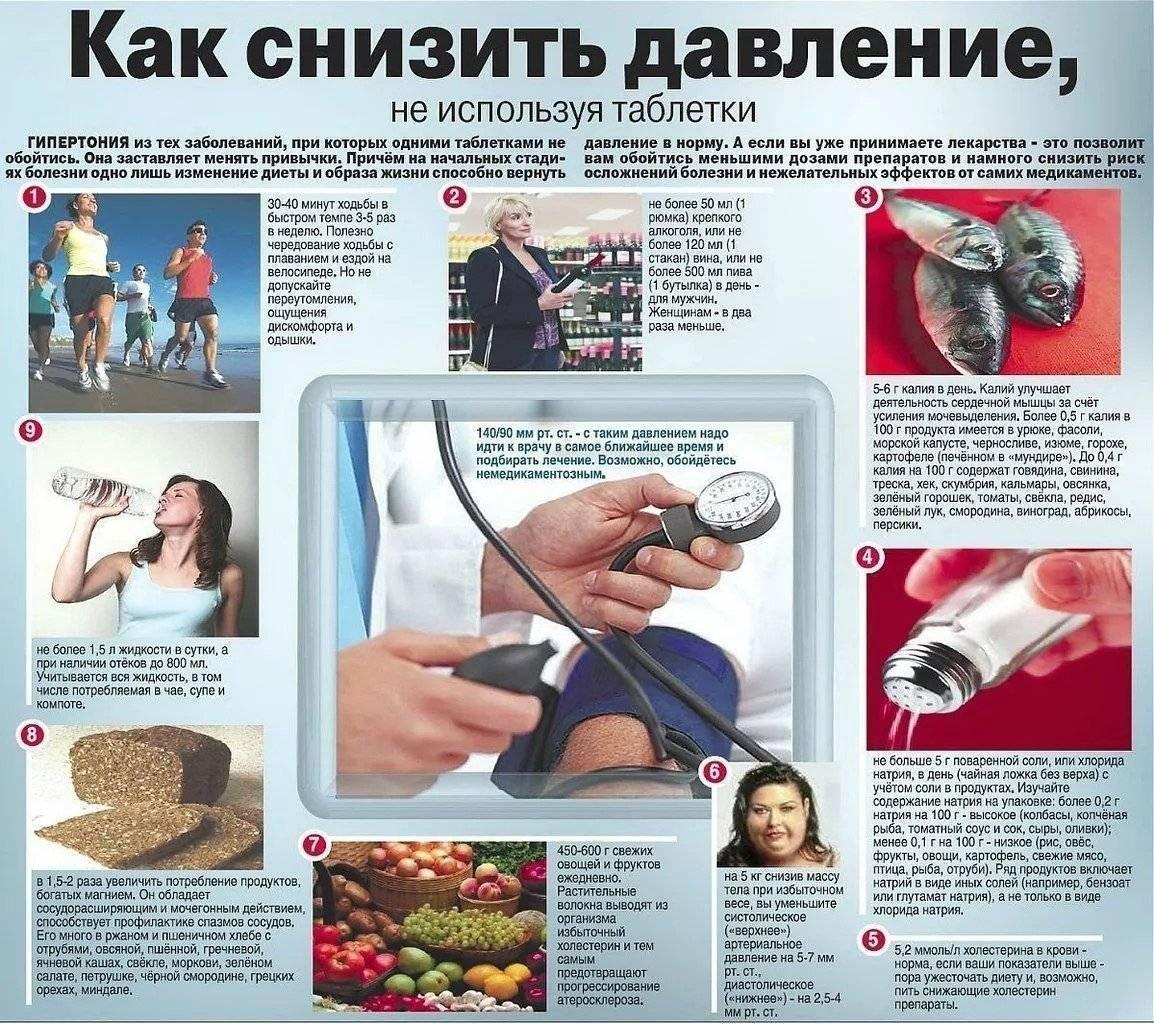 Какие продукты понижают артериальное давление - список