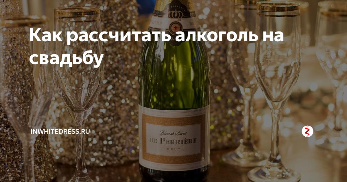 Расчет алкоголя на свадьбу на человека, принципы расчета