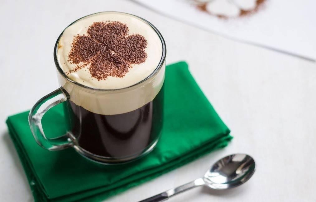 Ирландский кофе — состав, проверенный вкусный рецепт напитка с фото подачи!