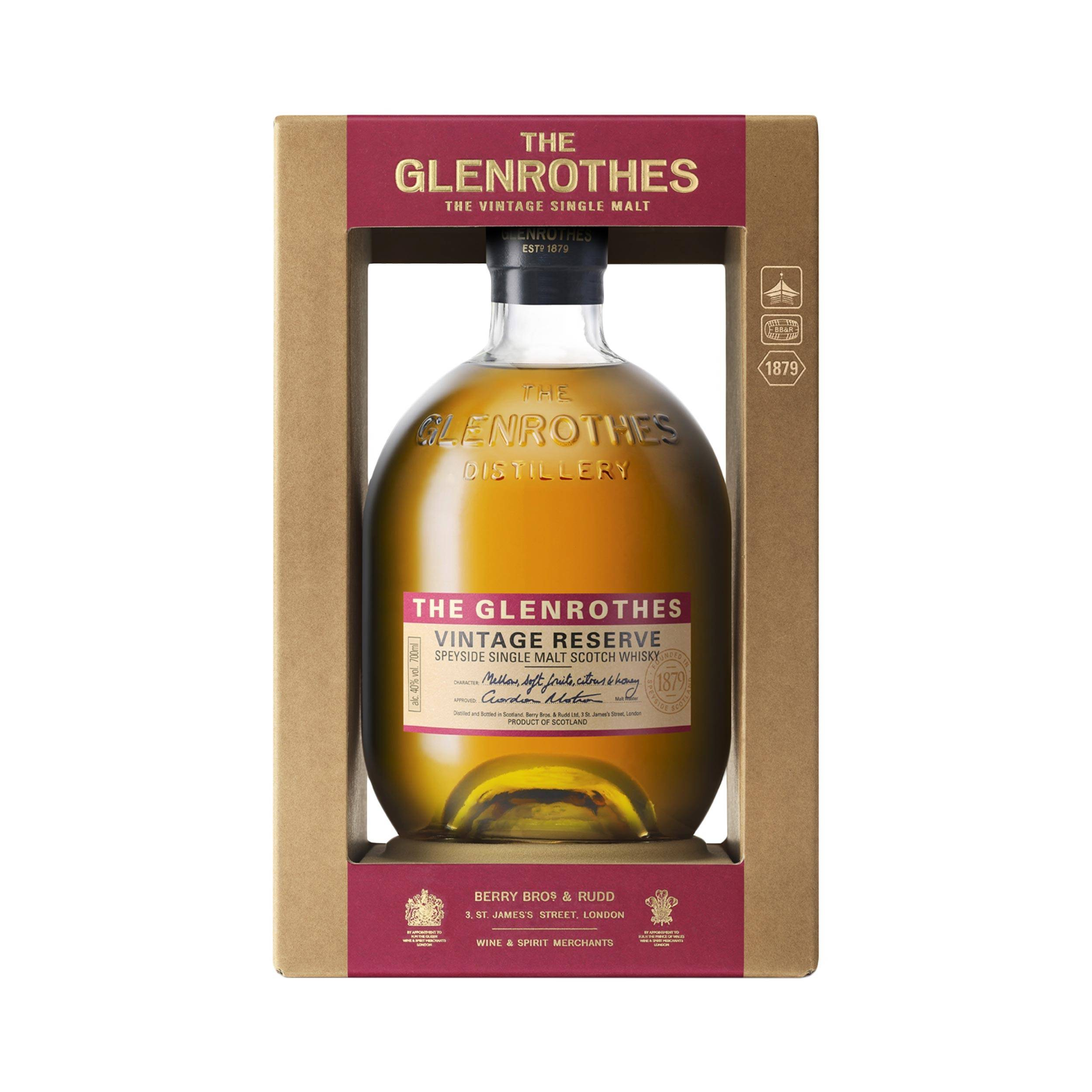 Виски glenrothes, vintage reserve, gift box