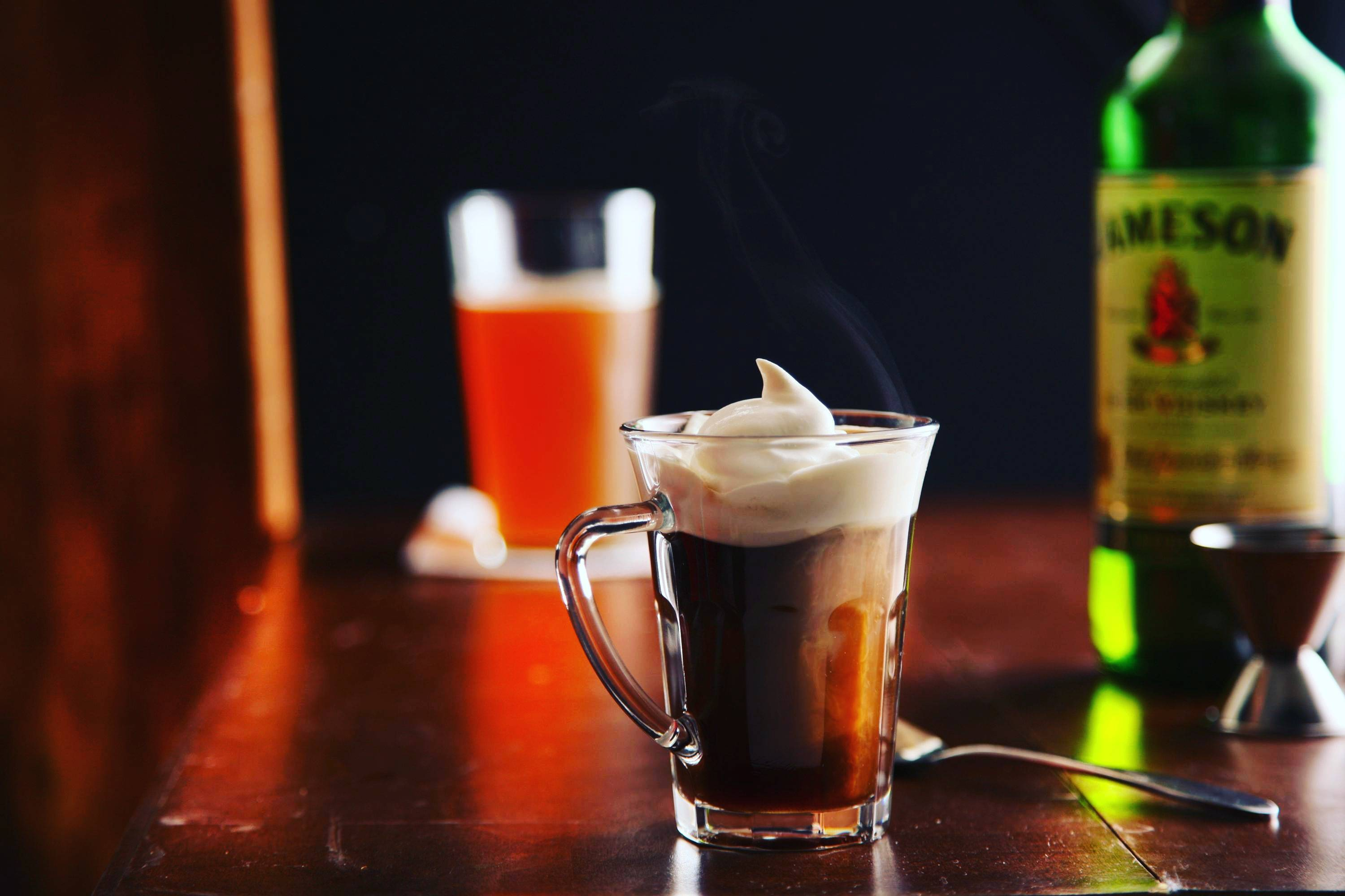 Рецепт коктейля ирландский кофе (irish coffee)