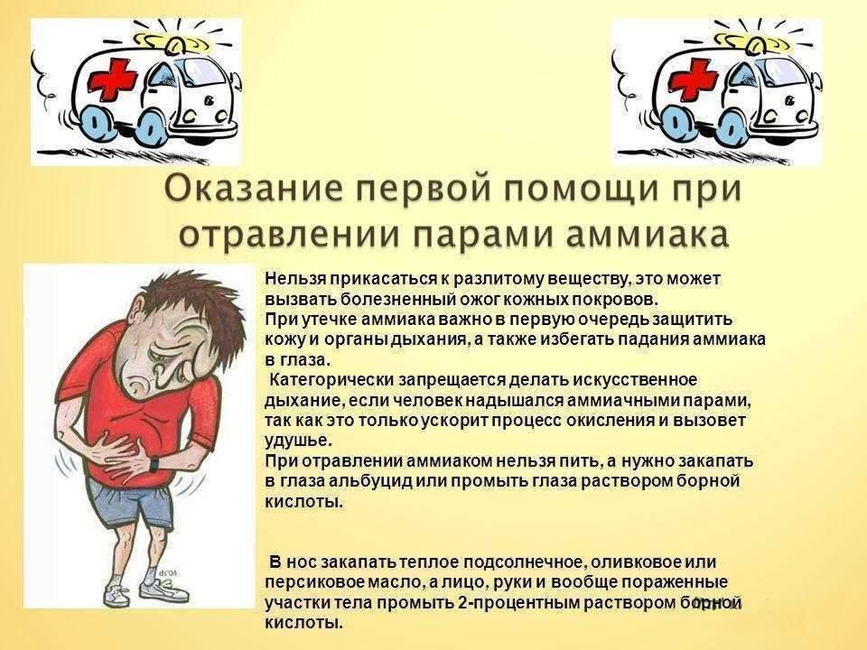 Отравление нашатырным спиртом: симптомы и лечение