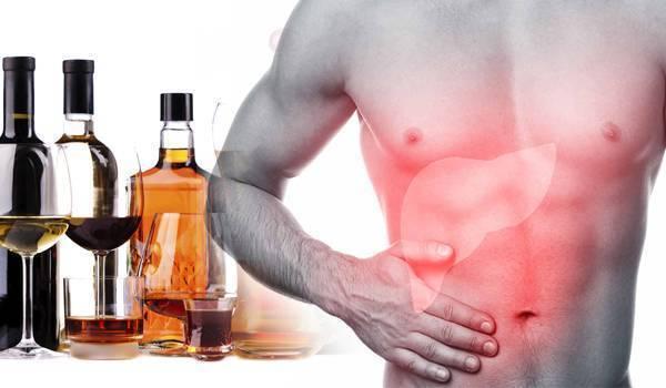 После алкоголя болит правый бок, причины