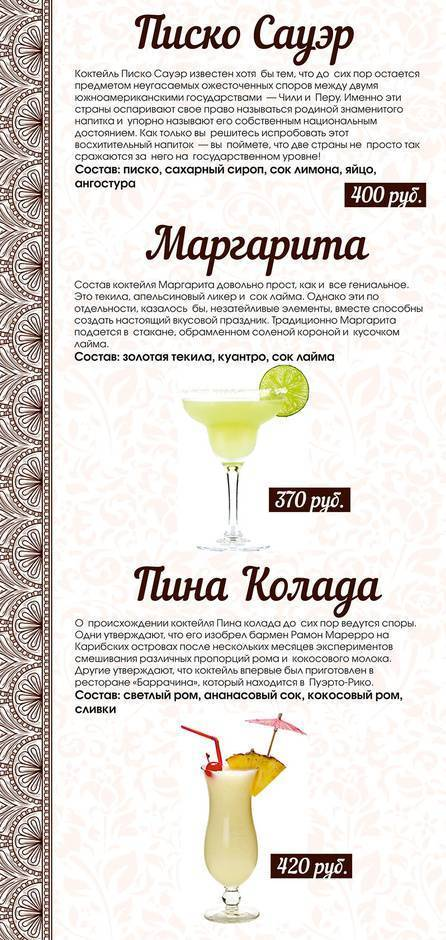 Коктейль «маргарита» - рецепт, состав, пропорции