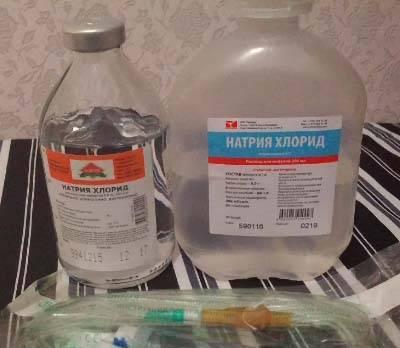 Капельница при интоксикации и отравления организма: состав капельниц