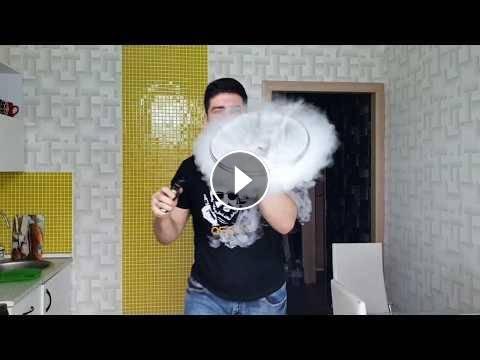 Как делать трюки кольца, медузу и торнадо из дыма - обучение