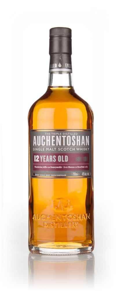 Auchentoshan: виды односолодового виски акентошан (single malt scotch whisky), описание и стоимость three wood, 12 years old (лет выдержки), american oak с кружками | mosspravki.ru