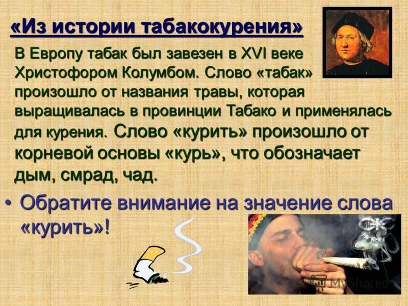 История табака в россии кратко