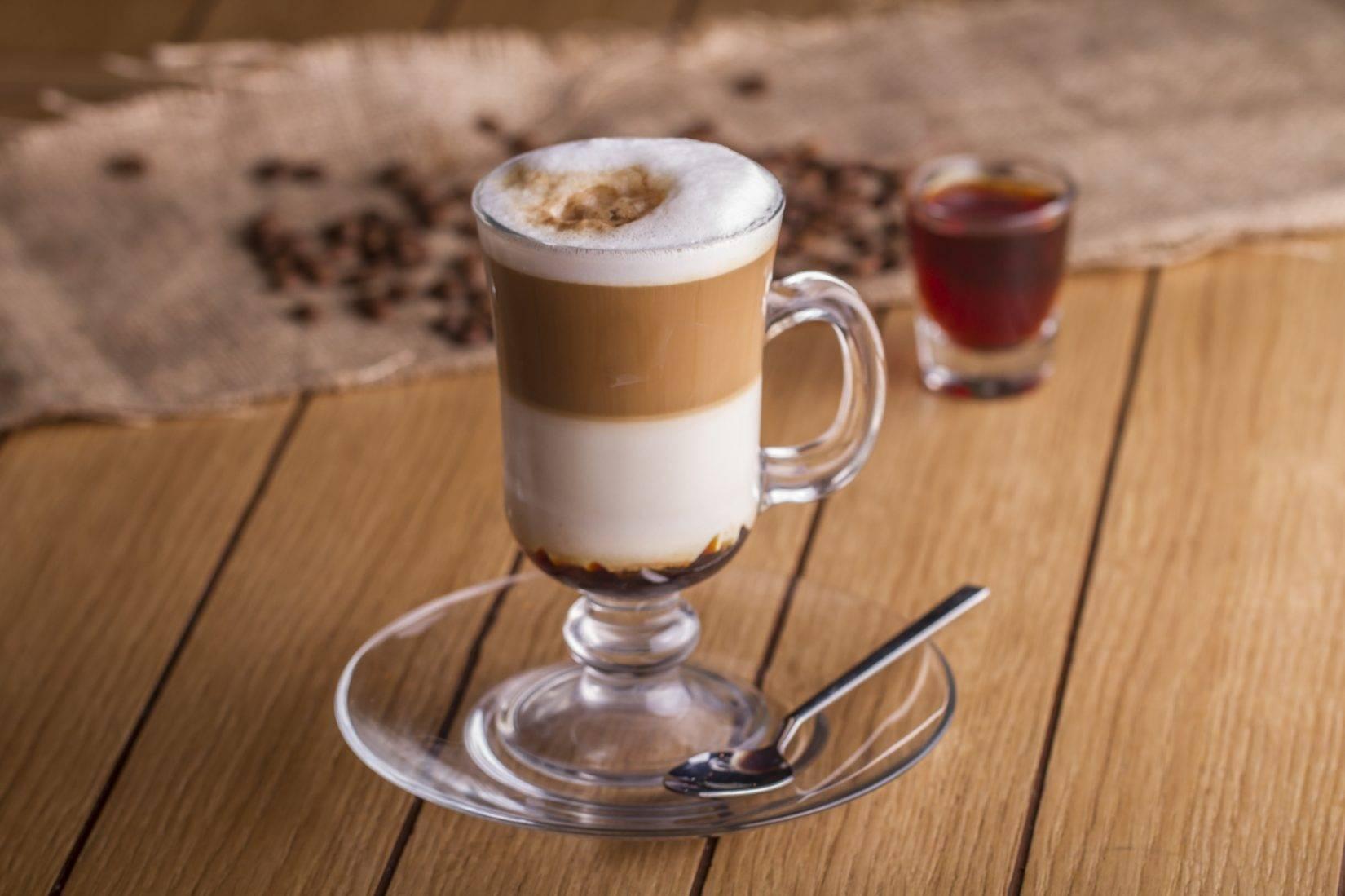 Рецепт кофейного коктейля - айриш кофе, он же ирландский кофе