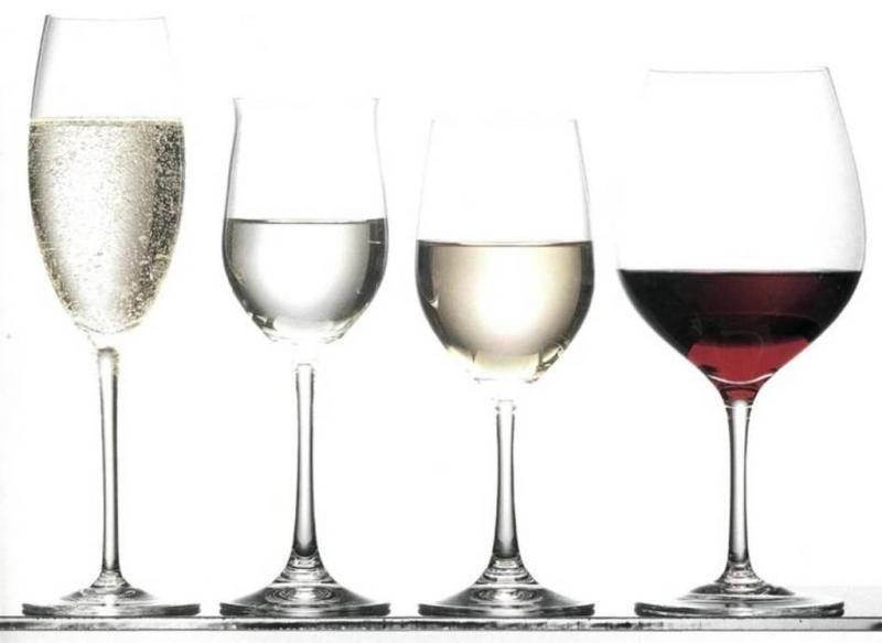 Как отличить бокал для красного вина от бокала для белого