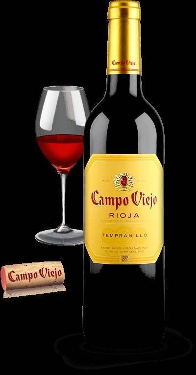 Вино «кампо вьехо темпранильо» (campo viejо) красное сухое 0,75л крепость 13,5%
